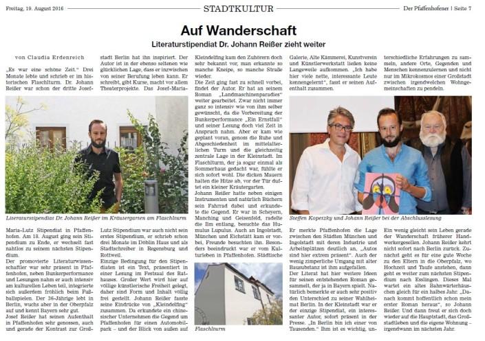 Pfaffenhofen Abschied Wanderschaft_Pfaffenhofener Aug16