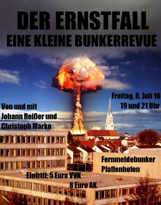 Pfaffenhofen Ernstfall Bunker 1 mit Text