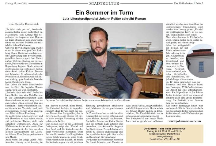 Potrait Johann Reißer Lutz Stipendiat Pfaffenhofen Jun16