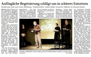 SchwaBo Pressebericht WK1 Lyrik