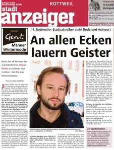 Stadtanzeiger Interview Nov14