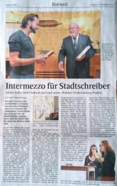Verabschiedung Stadtschreiber Rottweil SchwaBo Dez14