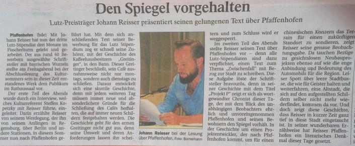 Besprechung Abschlusslesung Pfaffenhofen Jul16