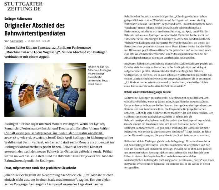Abschied Esslingen Stuttgarter Zeitung Apr17